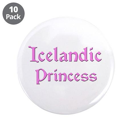 "Icelandic Princess 3.5"" Button (10 pack)"