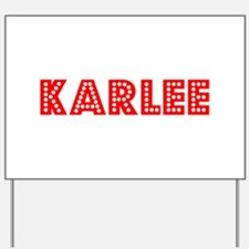 Retro Karlee (Red) Yard Sign
