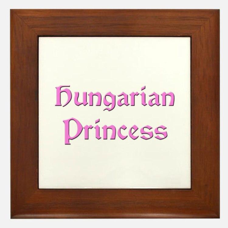 Hungarian Princess Framed Tile