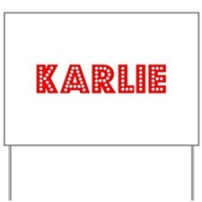 Retro Karlie (Red) Yard Sign