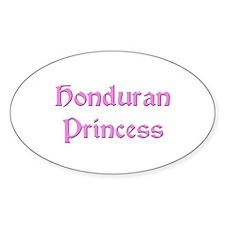 Honduran Princess Oval Decal