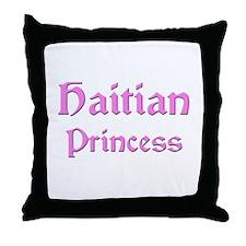 Haitian Princess Throw Pillow