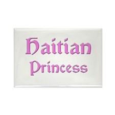 Haitian Princess Rectangle Magnet