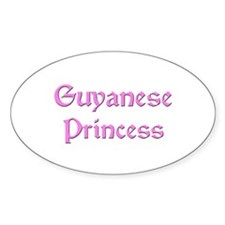 Guyanese Princess Oval Decal