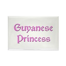 Guyanese Princess Rectangle Magnet
