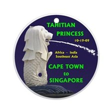 Cape Town - Singapore - Ornament (Round)