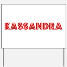 Retro Kassandra (Red) Yard Sign