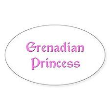 Grenadian Princess Oval Decal