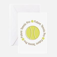 Future Tennis Pro Greeting Card