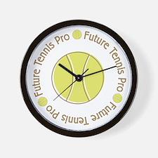 Future Tennis Pro Wall Clock
