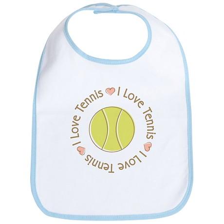 I Love Heart Tennis Bib