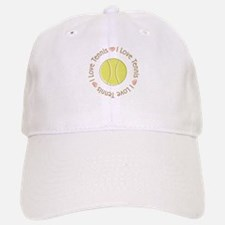 I Love Heart Tennis Cap