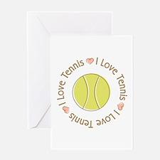 I Love Heart Tennis Greeting Card