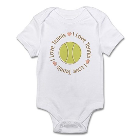 I Love Heart Tennis Infant Bodysuit