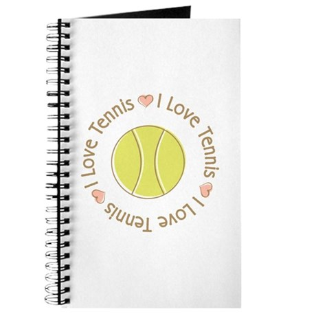 I Love Heart Tennis Journal