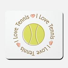 I Love Heart Tennis Mousepad