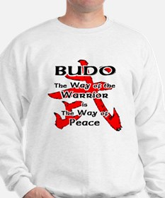 Budo on White Jumper