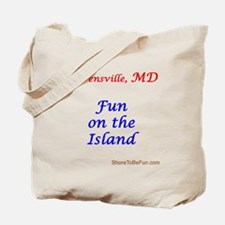 Stevensville, MD Fun on the Island Tote Bag