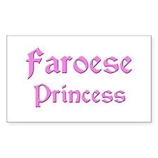 Faroese Princess Rectangle Decal