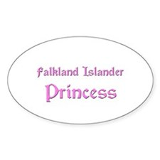 Falkland Islander Princess Oval Decal