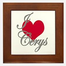 I love (heart) Cerys Framed Tile