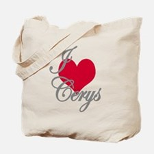 I love (heart) Cerys Tote Bag