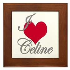 I love (heart) Celine Framed Tile