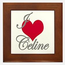 I love (heart) Celine Framed Tile