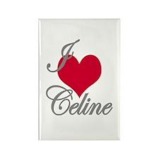 I love (heart) Celine Rectangle Magnet