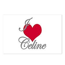 I love (heart) Celine Postcards (Package of 8)