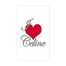 I love (heart) Celine Rectangle Decal