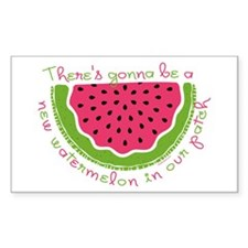 New Watermelon Rectangle Decal
