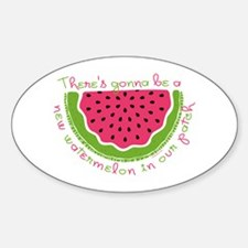 New Watermelon Oval Decal