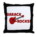 BARACK ROCKS! Throw Pillow
