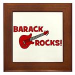 BARACK ROCKS! Framed Tile