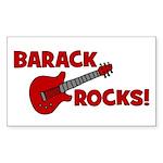 BARACK ROCKS! Rectangle Sticker