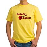 BARACK ROCKS! Yellow T-Shirt