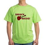BARACK ROCKS! Green T-Shirt