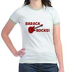 BARACK ROCKS! Jr. Ringer T-Shirt