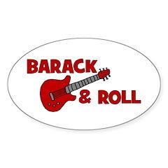 BARACK & ROLL Oval Decal