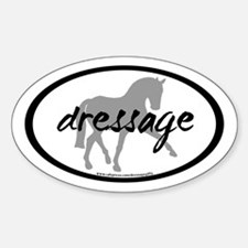 Dressage Sidepass w/ Text (C) Oval Decal