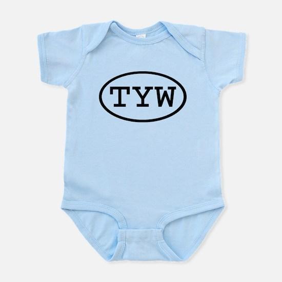 TYW Oval Infant Bodysuit