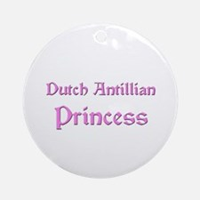 Dutch Antillian Princess Ornament (Round)