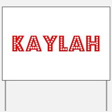 Retro Kaylah (Red) Yard Sign