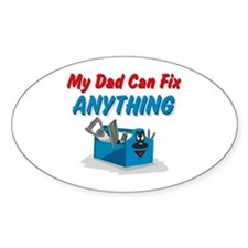 Fix Anything Dad Oval Decal