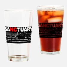 No Sanctuary Drinking Glass
