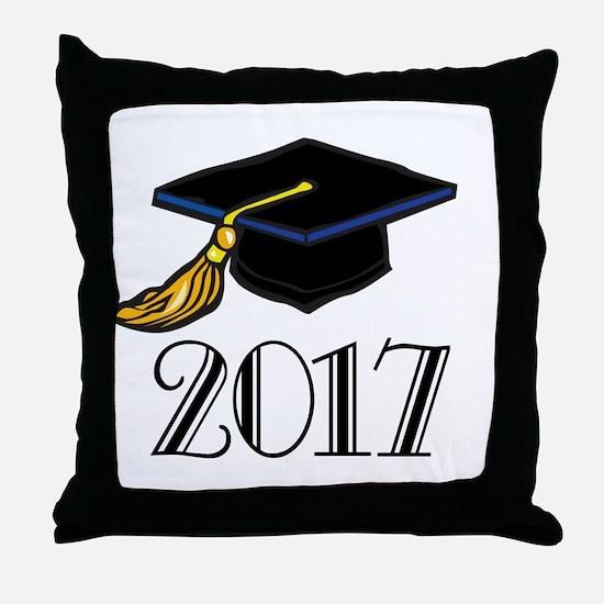 2017 Graduation Throw Pillow