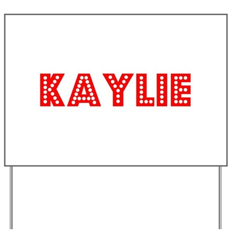 Retro Kaylie (Red) Yard Sign
