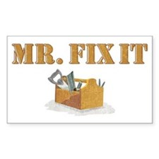 Mr. Fix-It 2 Rectangle Decal