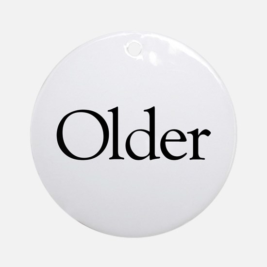 Older (middle child) Ornament (Round)